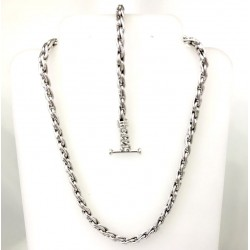 Silver Braided Link Set