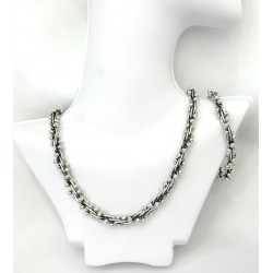 Small Silver Pearls Set Size2