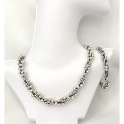 Large Silver Pearls Set Size2