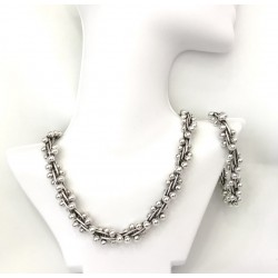 Large Silver Pearls Set Size4