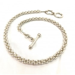 Braided rings necklace