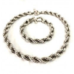 Thick Silver Rope Set