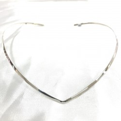 Thin Pointed Silver Choker